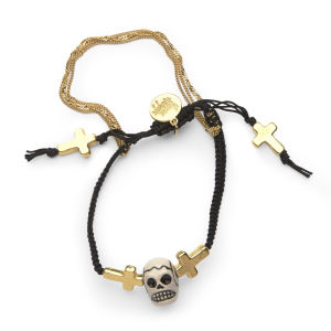 Venessa Arizaga The Alamo Bracelet - Gold/Black