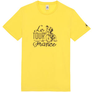 Le Coq Sportif Tour de France N10 Short Sleeved T-Shirt - Yellow
