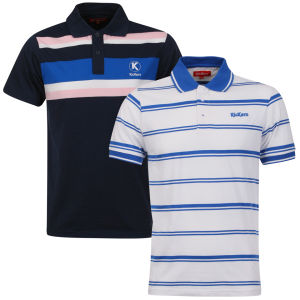 Kickers Men's Kerome 2-Pack Polos - Blue/White
