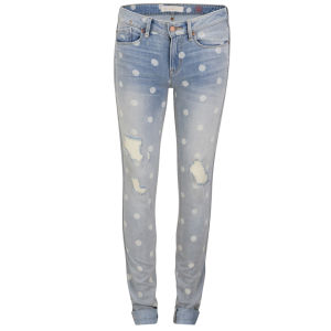 Marc by Marc Jacobs Women's Rolled Mid Rise Slim Fit Jeans - Lily Dot