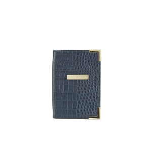 Tommy Hilfiger Women's Leather Croc Ivy Passport Cover - Black