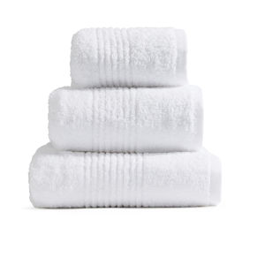 Highams 100% Egyptian Cotton 3 Piece Towel Bale (550gsm) - White