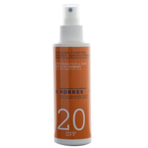 Korres Yoghurt Face & Body Sunscreen Emulsion SPF20 150ml