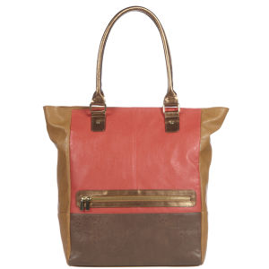 Stylist Pick 'Chantelle' Colour Block Shopper - Peach