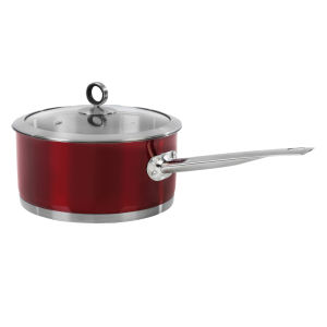 Morphy Richards Accents 20cm Saucepan - Red