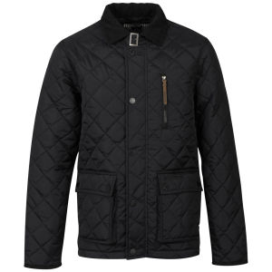 Ringspun Men's Domino Quilted Jacket - Black