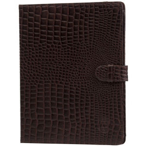 dbramante1928 Leather Folio Case for iPad 2, 3, 4, Air, and Air 2 - Crocodile Brown
