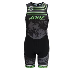 Zoot Men's Performance Triathlon Team Back Zip Racesuit - Black/Green Flash