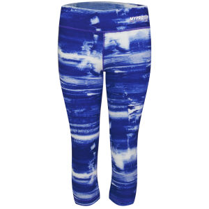 Under Armour® Women's Perfect Tight Printed Capri - kolor Siberian Iris