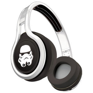 SMS Audio by 50 Cent Street Wired Headphones Includes Passive Noise Cancellation - Star Wars Edition - Storm Trooper - Silver