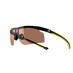 adidas Adizero Tempo Halfrim Sunglasses - Black/Yellow - L