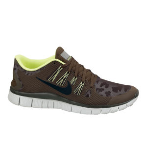 Nike Men's Free Run 5.0 Shield + Running Shoes - Dark Loden/White
