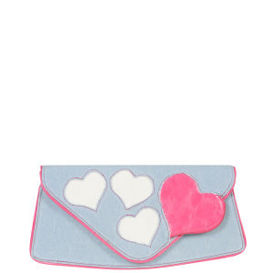 Irregular Choice Valentina Clutch Bag - Denim