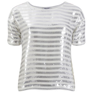American Retro Women's Paulette Top - White/Silver