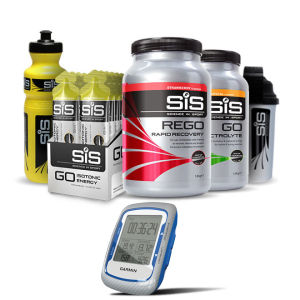 Garmin Edge 500 GPS/HRM/CAD Cycle Computer with SIS Nutrition Banana