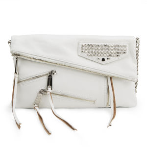 Rebecca Minkoff Harper Soft Leather Clutch Bag - White