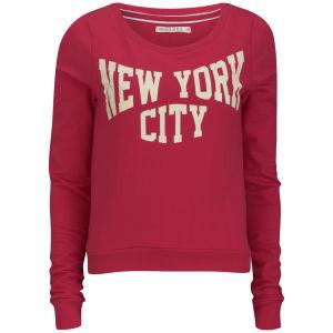 Brave Soul Women's New York Sweatshirt - Red