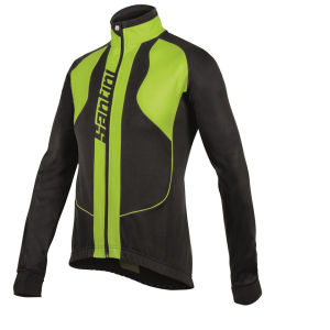 Santini Rebel Water Resistant and Windproof Jacket - Black/Yellow