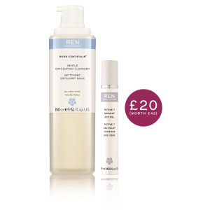 REN Exfoliating Cleanser 150ml and Eye Gel 15ml Set (Worth £42.50)