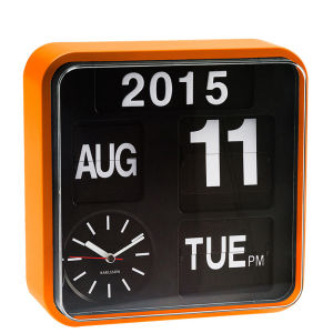 Karlsson Wall Clock Mini Flip - Orange