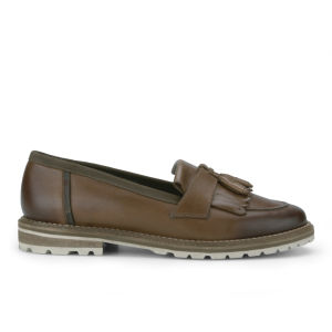 Barbour Women's Joanne Fringed Tassel Loafers - Sand