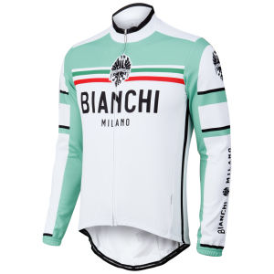 Bianchi Men's Bivona Performance Long Sleeve Jersey - White