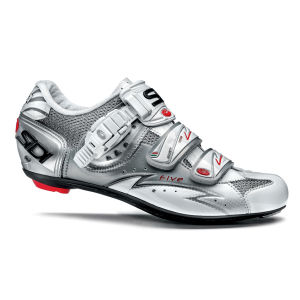 Sidi Five Vernice Cycling Shoes - White/Silver