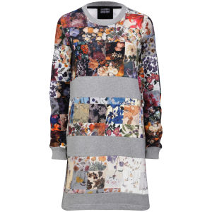 Markus Lupfer Women's Sweatshirt Dress - Grey Floral
