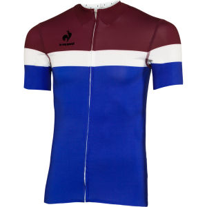 Le Coq Sportif Men's Cycling Performance Short Sleeve New Arac Jersey - Cobalt
