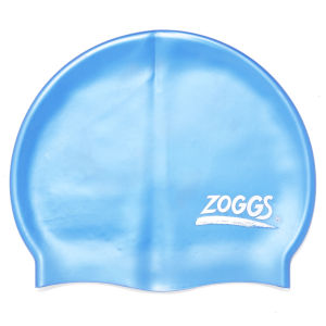 Zoggs Silicone Swimming Cap - Baby Blue