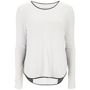 rag & bone Women's Rose Long Sleeve Panel T-Shirt - Snow White