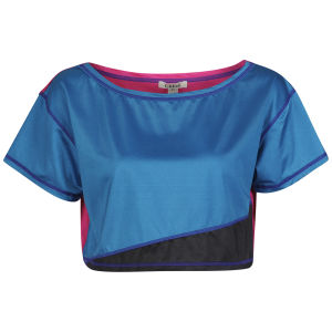Chloe Women's Colour Block T-Shirt - Blue/Pink