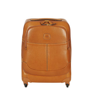 Bric's Life Pelle 55Cm 4 Wheel Trolley Case - Tan
