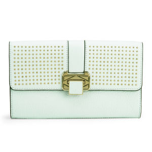 Rebecca Minkoff Women's Coco Leather Clutch with Studs - Light Turquoise
