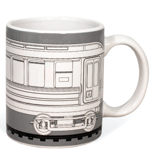 Graffitea Train Mug with Pens