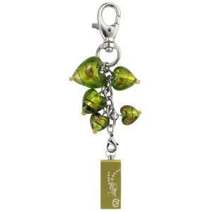 View Quest Intelligent Jewellery 8GB Flash Drive - Green Hearts