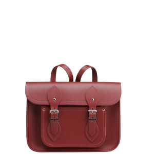 Cambridge Satchel Company 11 Inch Leather Satchel Backpack - Red