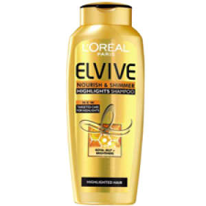 L'Oreal Paris Elvive Nourish & Shimmer Highlights Shampoo - Highlighted Hair (250ml)