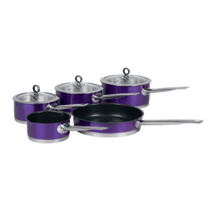 Morphy Richards 46413 5 Piece Pan Set - Plum