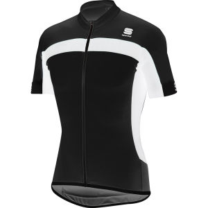 Sportful Pista Long Zip Jersey - Black/White