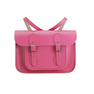 The Cambridge Satchel Company 11 Inch Leather Satchel Backpack - Orchid