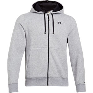 Under Armour Men's CC Storm Transit FZ Hoody - True Gray Heather/Black