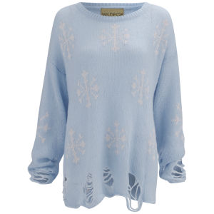 Wildfox Women's Lenon Sweater - Hazy Blue