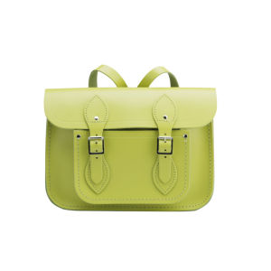 The Cambridge Satchel Company 11 Inch Leather Satchel Backpack - Apple Green