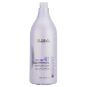 L'Oreal Professionnel Série Expert Liss Unlimited Force 2 Shampoo (1500ml) With Pump (Bundle)