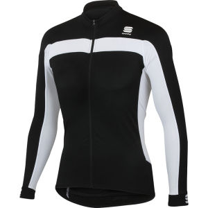 Sportful Pista Long Sleeve Jersey - Black/White