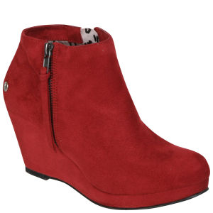 Blink Women's Suede Wedges - Dark Red