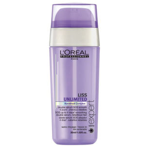 Sérum suavizante doble L'Oreal Professionnel Serie Expert Liss Unlimited SOS (30 ml)