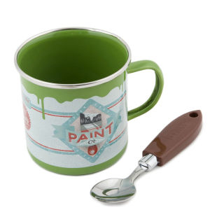 Paint Pot Mug and Brush Spoon Set - Green