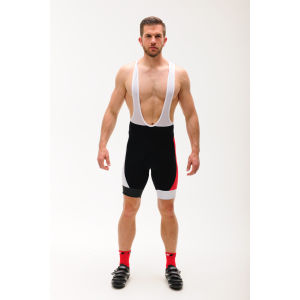 Look Pro Team Bib Shorts - White/Red